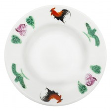 Rooster Round Rim Soup Plate